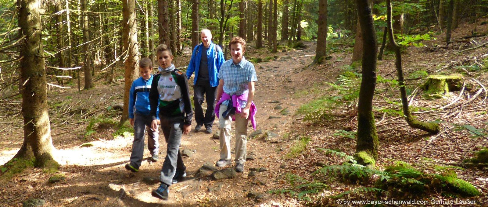 familien-wanderurlaub-bayersicher-wald-hoher-bogen-bergwanderung