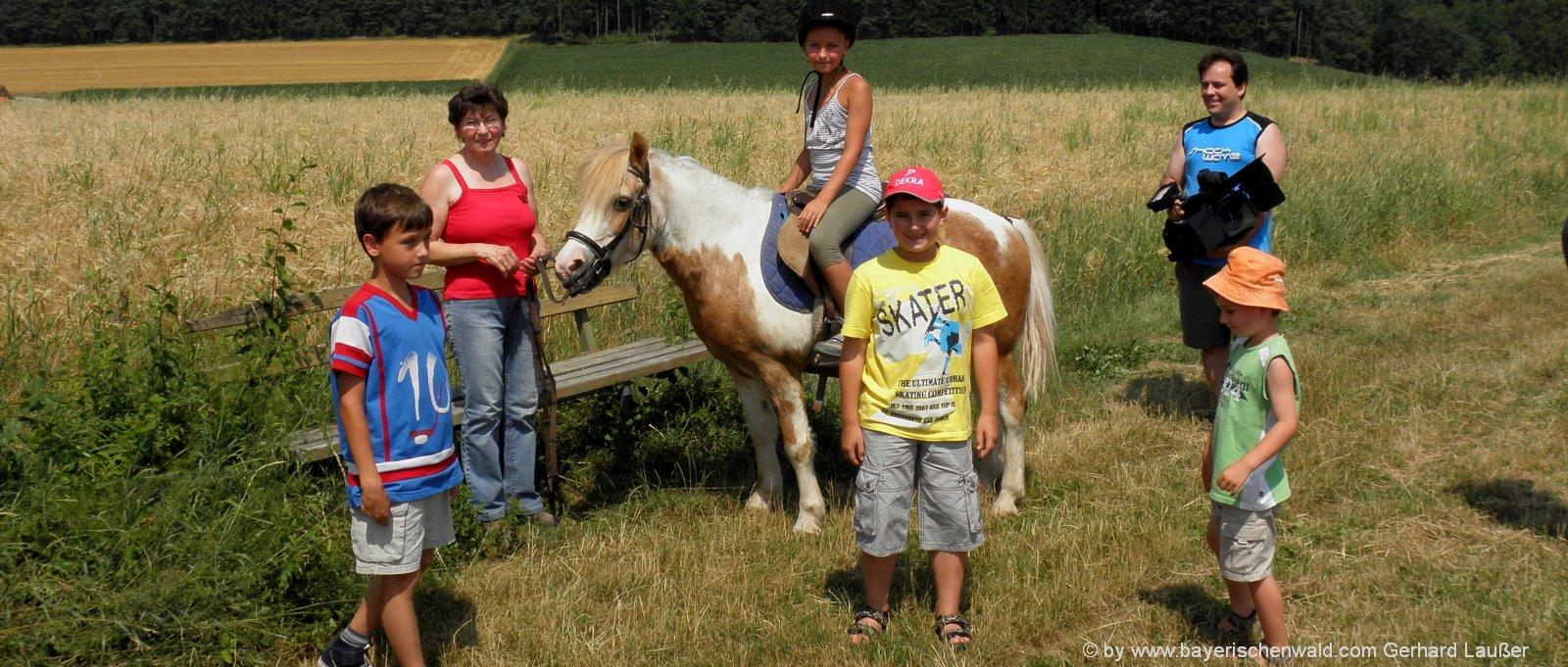Bayerischer Wald Reiterhotel in Bayern Familienhotel mit Pferden